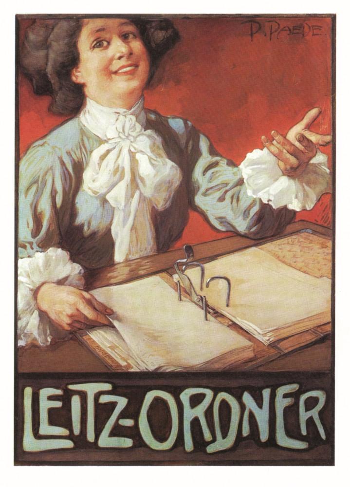 Eines der ersten Leitzplakate um 1900. Abbildung: Leitz