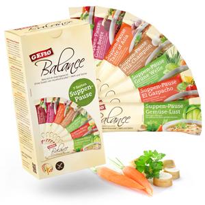 Für jeden etwas: sieben verschiedene Geschmacksrichtungen der Suppenpause. Abbildung: Gefro