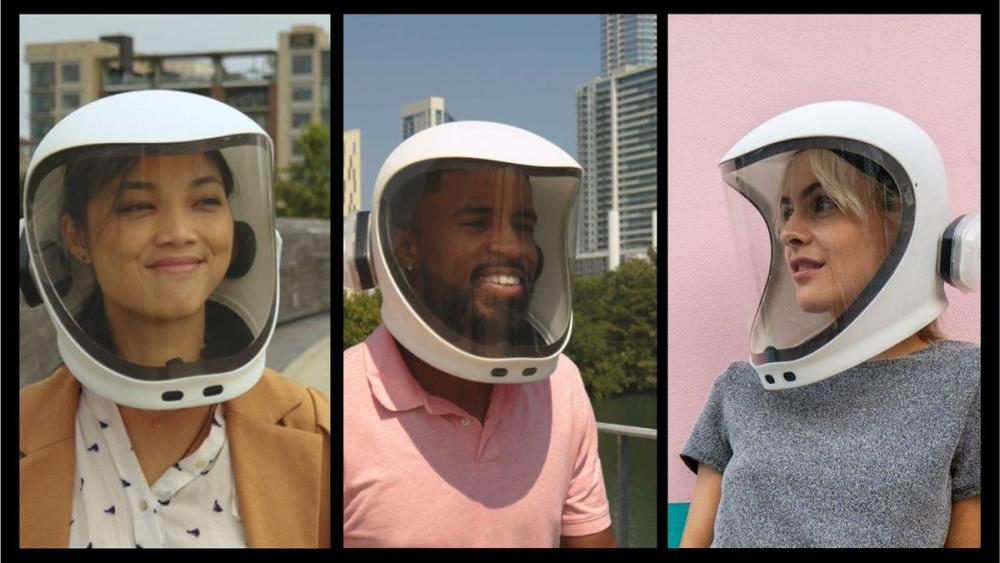 Vielleicht tragen wir 2030 Helme mit sämtlichen Smartphone-Funktionen, um uns vor Ansteckung zu schützen. Abbildung: NE-1
