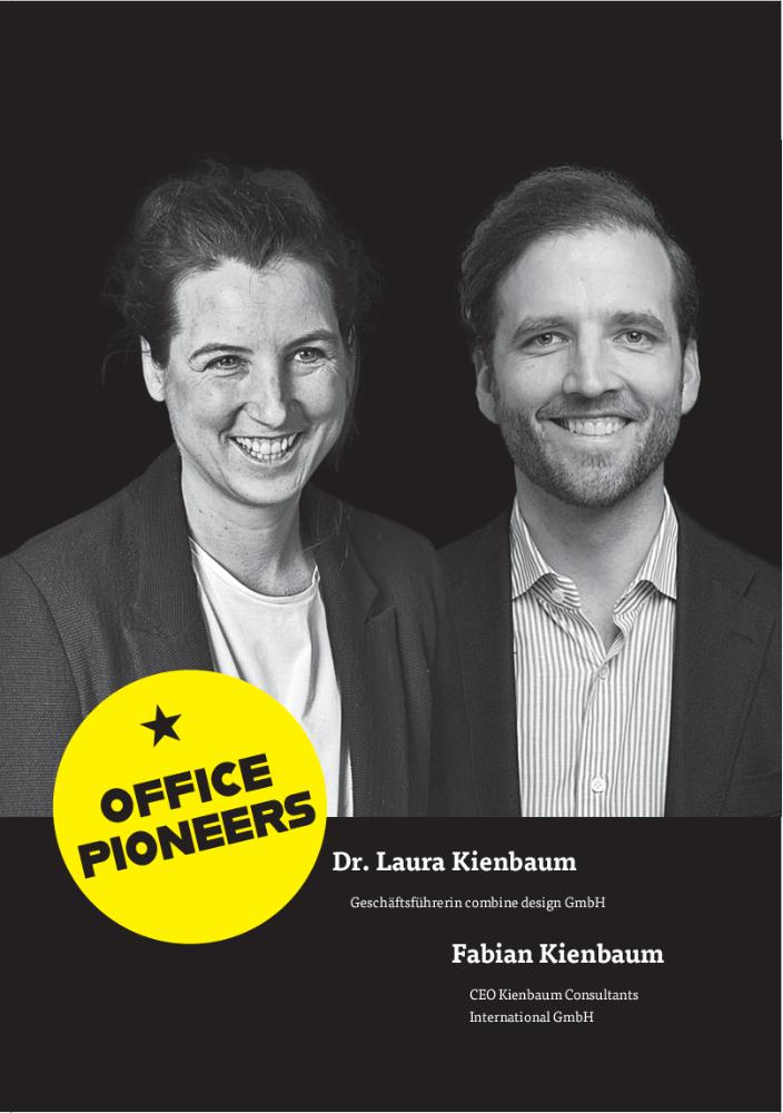 Dr. Laura Kienbaum, Geschäftsführerin combine design GmbH & Fabian Kienbaum, CEO Kienbaum Consultants International GmbH Abbildung: Kienbaum