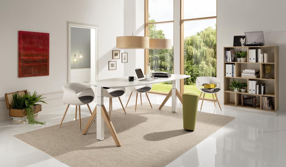 Das Programm von WINI bietet Möbel für Office und Homeoffice gleichermaßen. Abbildung: WINI