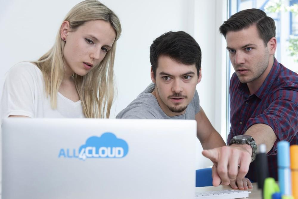 Effizienter zusammenarbeiten: all4cloud löste Skype for Business bereits Ende 2018 durch Microsoft Teams ab. Mit der Umsetzung beauftragte der Dienstleister die Telekom. Abbildung: all4cloud