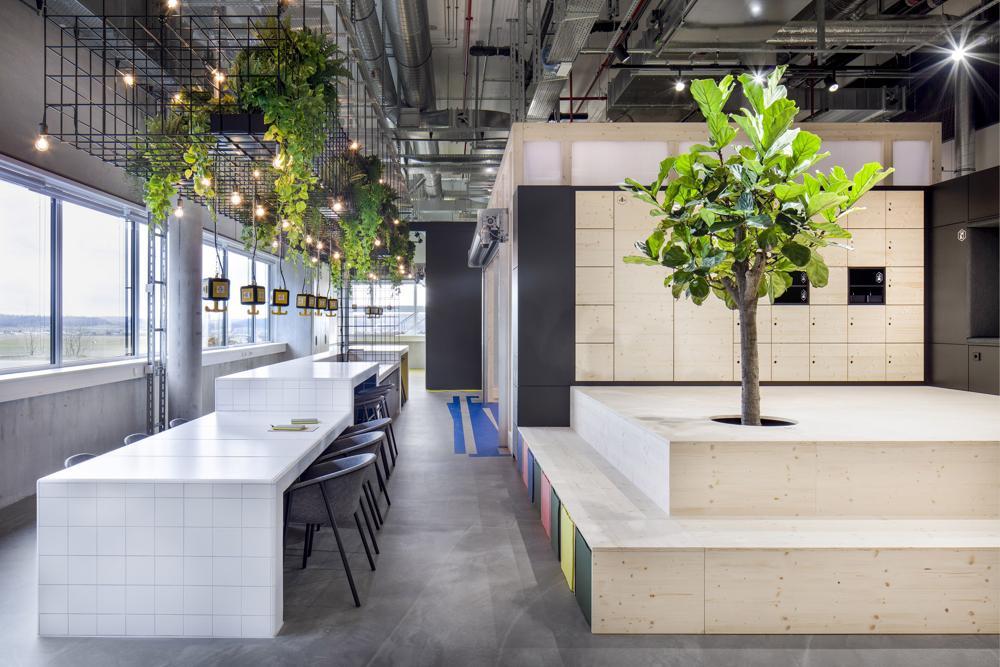 """Die """"Küche der Ideen"""" greift die frühere Nutzung des Raums als Labor auf. Abbildung: Markus Guhl"""