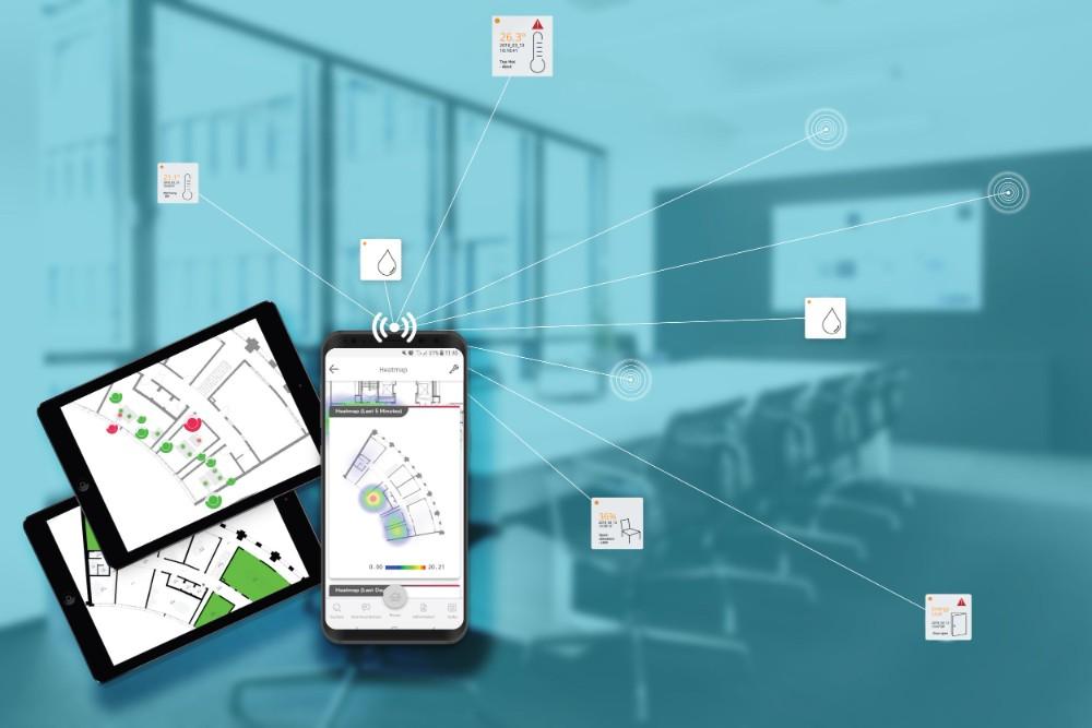 Zahlreiche Smart-Office-Anwendungen lassen sich auf einer IoT-Plattform vereinen. Abbildung: GMS Global Media Services