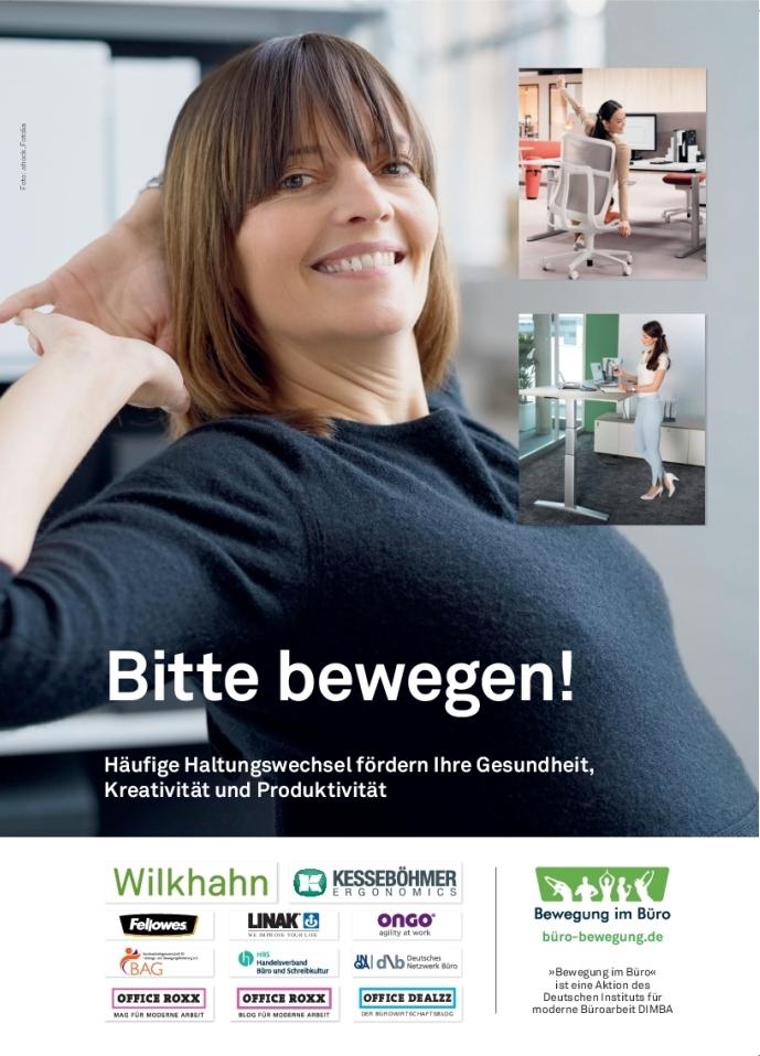 """Die Aktion """"Bewegung im Büro"""" gibt es seit 2013. büro-bewegung.de"""