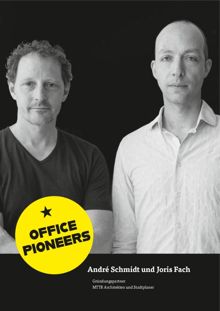 André Schmidt und Joris Fach, Gründungspartner MTTR Architekten und Stadtplaner. Abbildung: Florian Lonicer, Fotograf