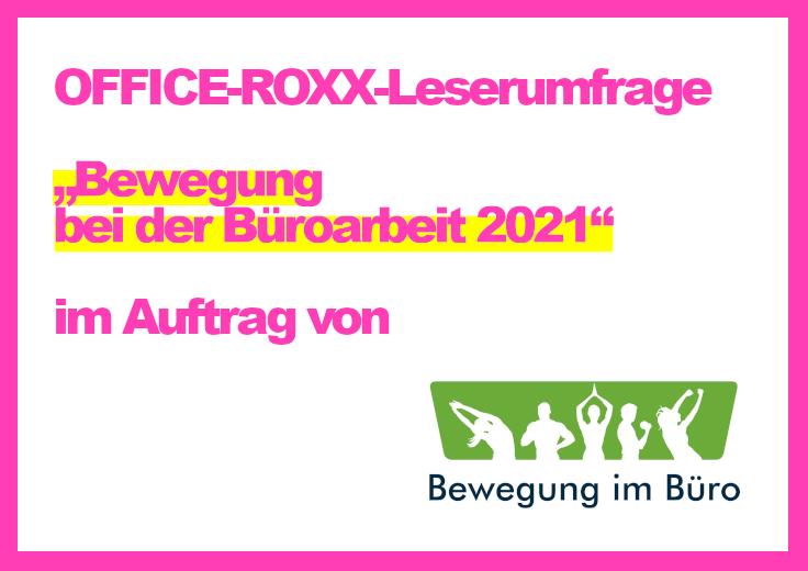 OFFICE-ROXX-Leserumfrage Bewegung im Büro