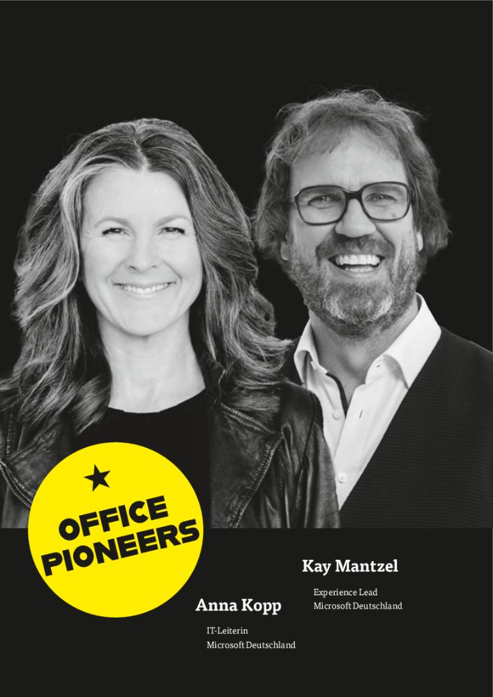 Anna Kopp, IT-Leiterin Microsoft Deutschland & Kay Mantzel, Experience Lead Microsoft Deutschland. Abbildung: Microsoft Deutschland