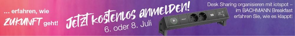 Bachmann - Webinar Desk Sharing organisieren mit iotspot, 6. oder 8. Juli