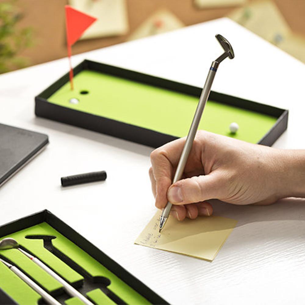 Minigolf-Kugelschreiber-Set.