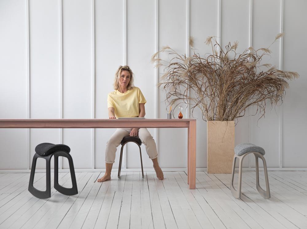Muista bringt Bewegung in die Arbeit am heimischen Schreibtisch. Abbildung: Muista