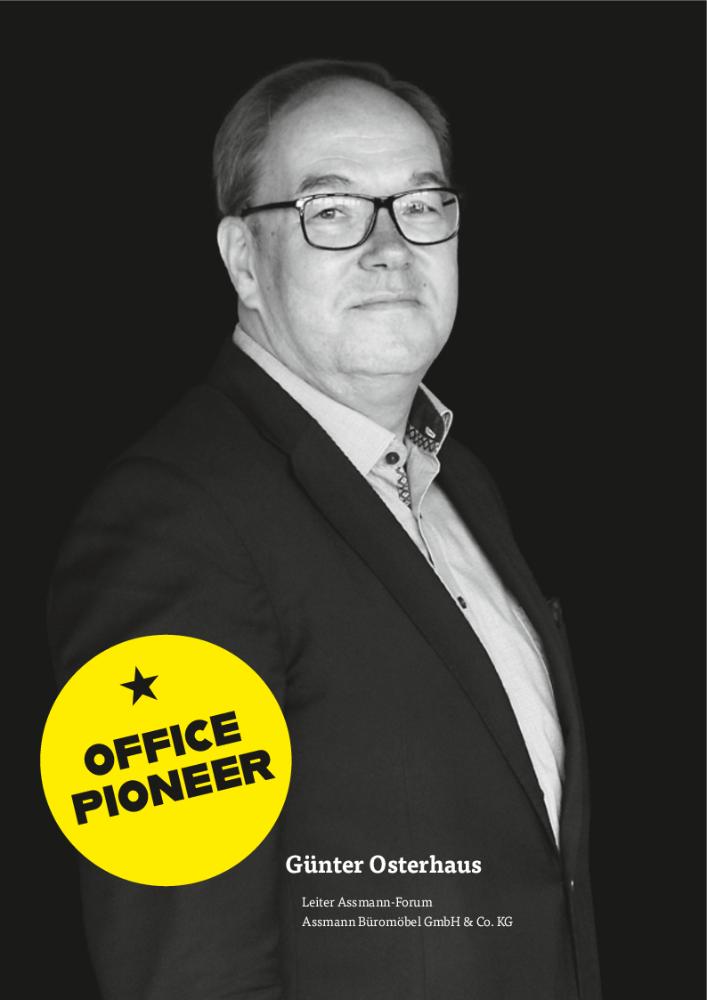 Günter Osterhaus, Leiter Assmann-Forum Assmann Büromöbel GmbH & Co. KG. Abbildung: Assmann