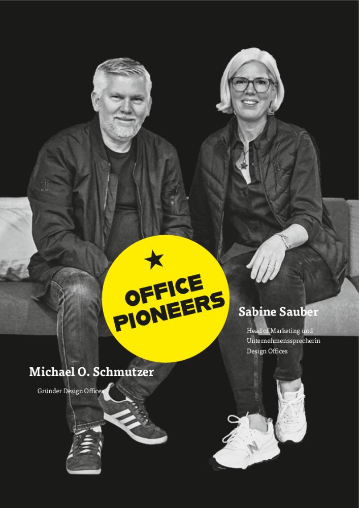 Sabine Sauber, Head of Marketing und Unternehmenssprecherin Design Offices & Michael O. Schmutzer, Gründer Design Offices. Abbildung: Marc Gillardone für Design Offices