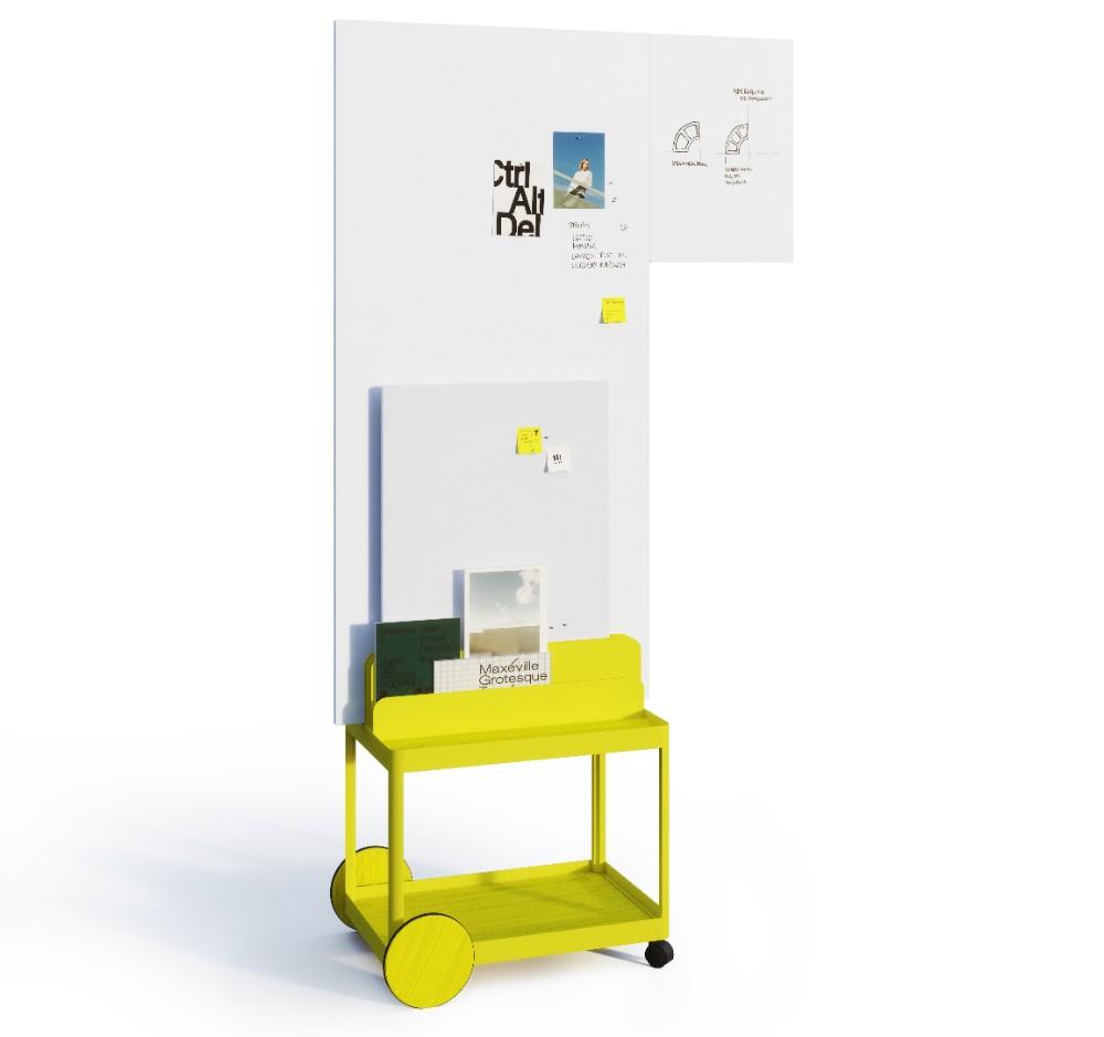 Das modulare Boardsystem Mocon für agiles, kreatives Arbeiten, das Besau und Marguerre für Sigel entworfen haben. Abbildung: Silke Zander