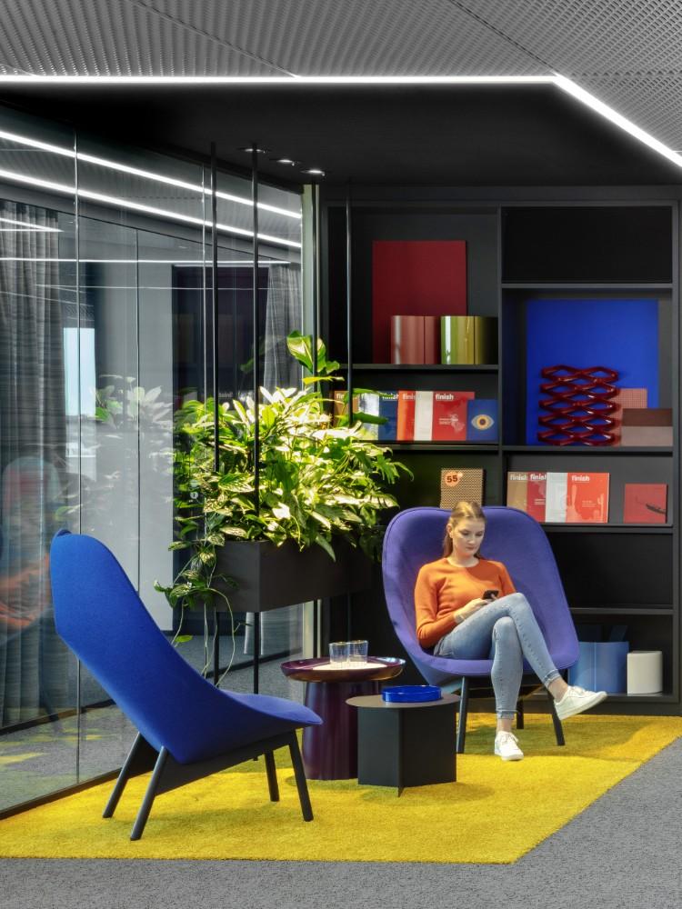Ein Bestandteil des Open-Office-Konzepts sind farbige Zonierungen. Abbildung: Eric Laignel