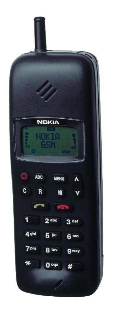 Das GSM-fähige Nokia 1011 aus dem Jahr 1991 ist das wohl meistverkaufte Handy der frühen 1990er.