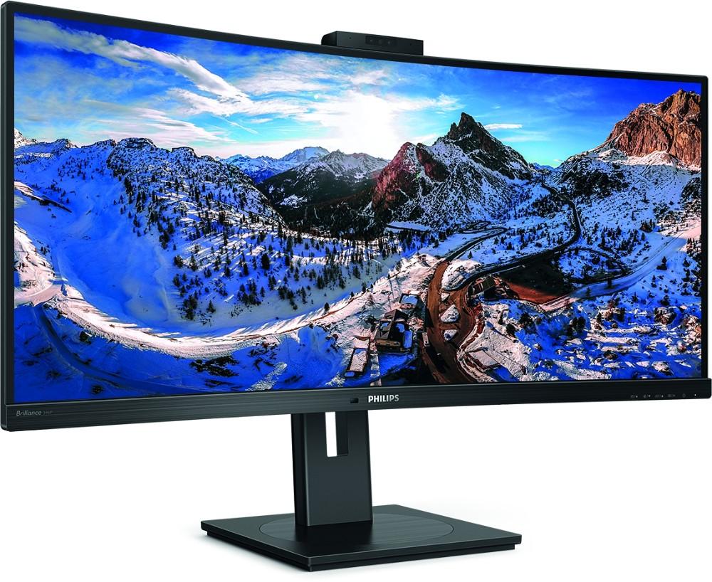 Ein Office-Monitor sollte höhenverstellbar und neigbar sein, der Abstand zwischen Auge und Bildschirmoberfläche mindestens 80 cm betragen. Abbildung: Philips