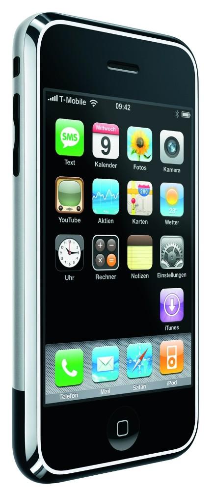 Die Revolution: Das erste iPhone aus dem Jahr 2007 gilt als der Prototyp des Smartphones.