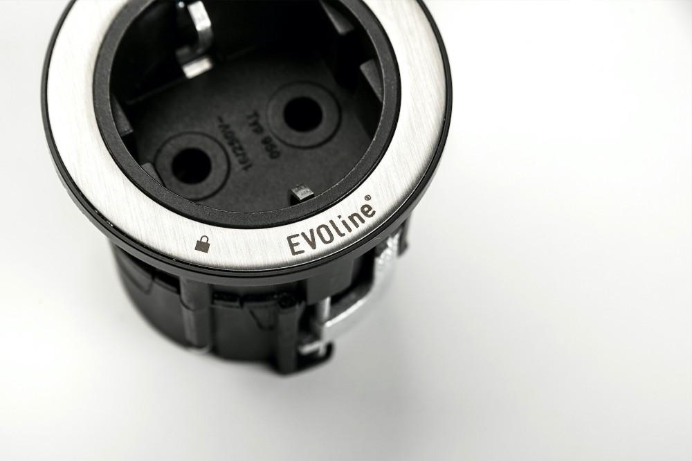 Aufgedrucktes Schloss-Symbol: Der Ring der Einbaulösung ist nur mithilfe eines Entriegelungswerkzeuges zu entsperren. Abbildung: Schulte Elektrotechnik