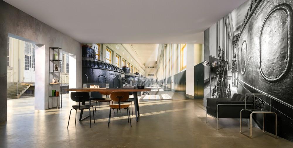 Inspirierende Kraftwerk-Umgebung. Abbildung: Otto Kasper