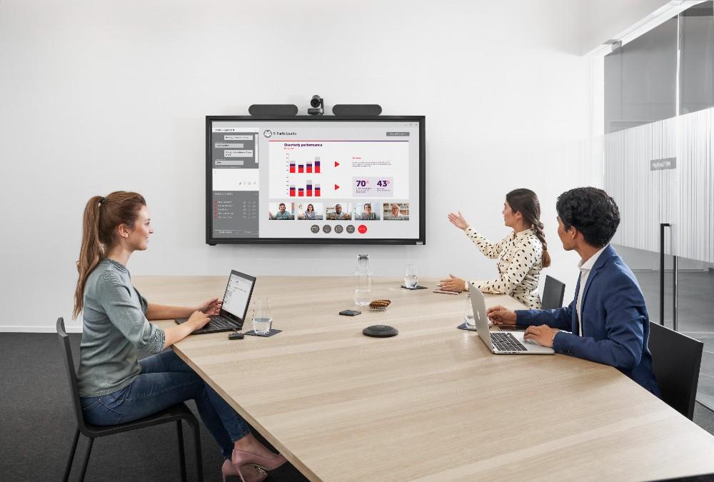 Sich unabhängig von der Meeting-Plattform in Besprechungen einzuwählen, erleichtert die Zusammenarbeit. Abbildung: Barco