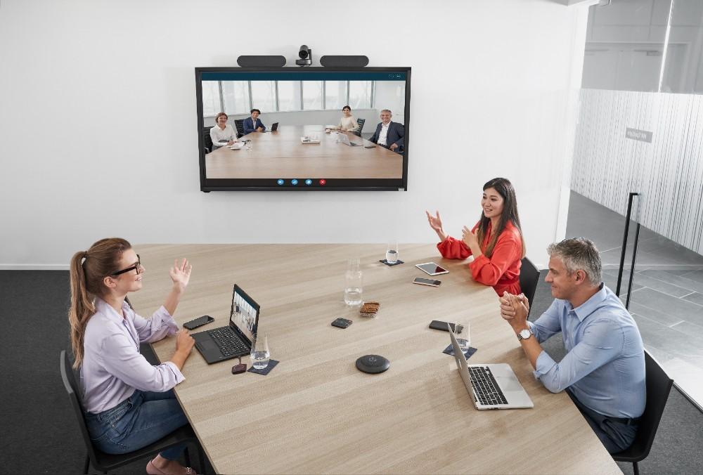 Meetings und Zusammenarbeit, ob im Büro oder über Standorte verteilt, sind ein weiterer Fokus der zukünftigen Arbeit. Abbildung: BarcoAbbildung: Barco