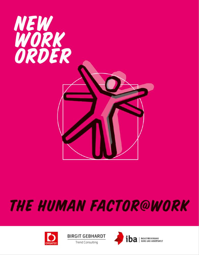 """Die """"New Work Order""""-Vertiefungsstudie """"The Human Factor@Work"""" ist kostenfrei verfügbar unter iba.online/service/publikationen/."""