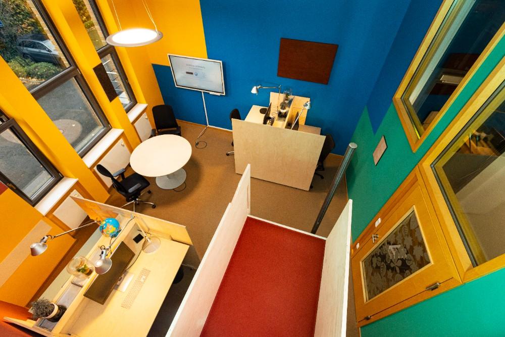 Inspirational Spaces zum Thema anders Arbeiten für das Innovationsnetzwerk Kolumbus. Abbildung: Sascha Kreklau Fotografie