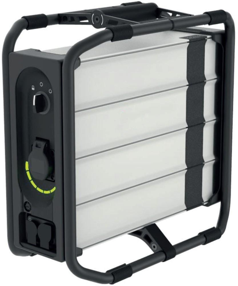 Die Schuko-Steckdose macht den NET+ Instragrid 230 V-Akku kompatibel mit handelsüblichen Endgeräten. Abbildungen: A. & H. Meyer GmbH
