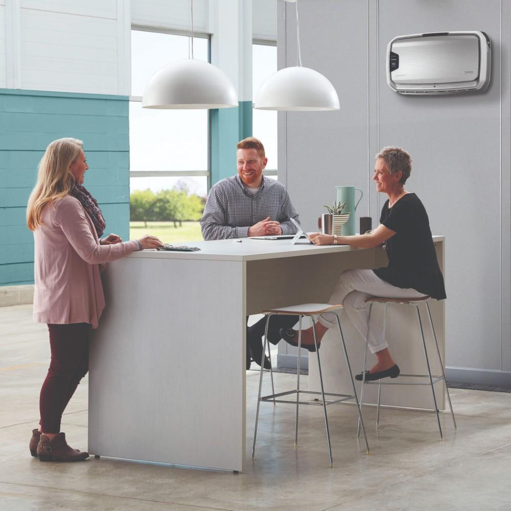 Luftreiniger sorgen für eine gesunde Luftqualität in Büroräumen. Abbildung: Fellowes