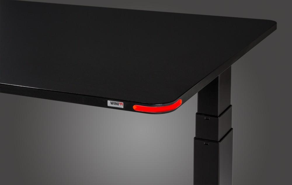 Das neue Touch-Element Wini Motion zur Höhenverstellung von motorischen Sitz-Steh-Tischen. Abbildung: Wini Büromöbel